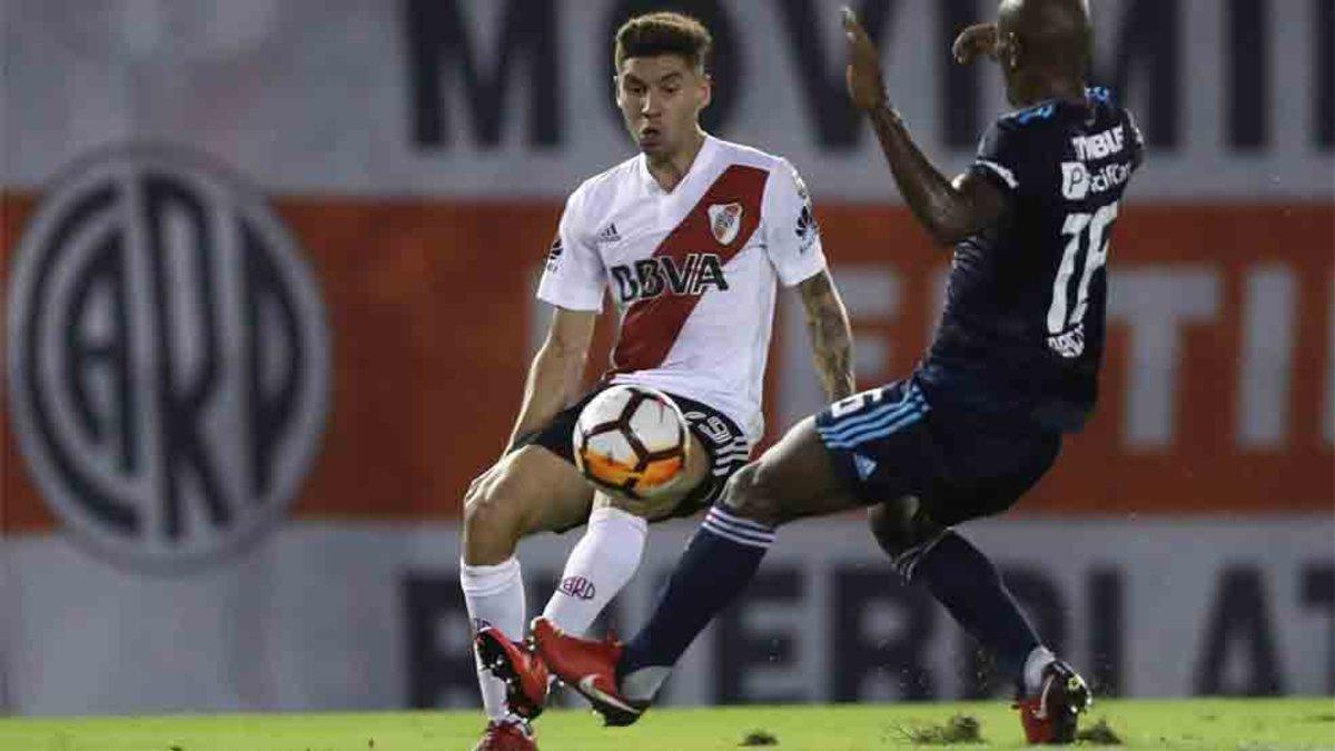 Montiel es un jugador que está en la agenda del Barcelona