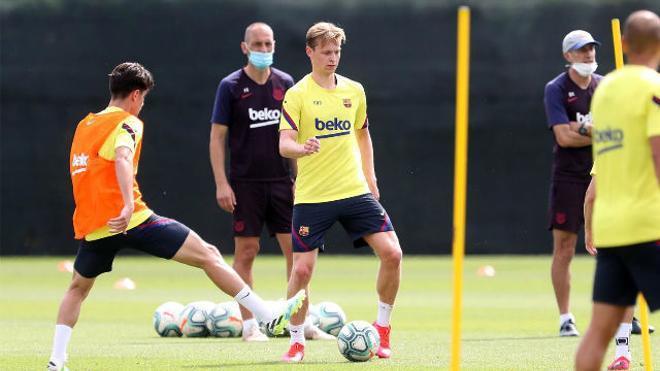 Así ha sido el entrenamiento del Barça