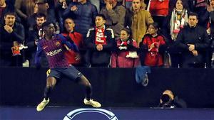 ¡Volvió la picadura del mosquito! Dembélé despertó al Barça con este gran gol de volea