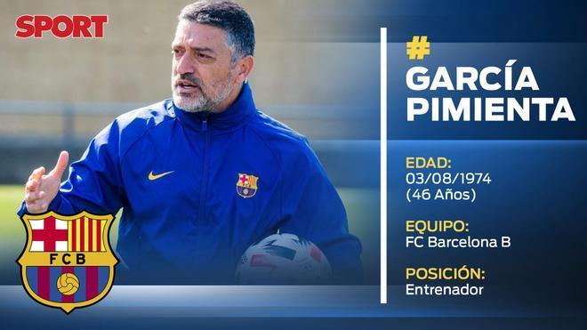 García Pimienta (Entrenador Barça B)
