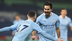 Gündogan celebra su gol al West Brom