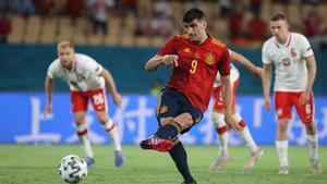 Gerard Moreno envió el penalti al palo