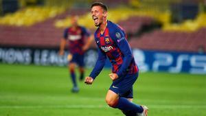 Lenglet abrió el marcador en el Camp Nou