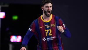 Ludovic Fabregas durante un encuentro con el Barça