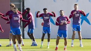 Así ha sido el entrenamiento del FC Barcelona antes del Clásico