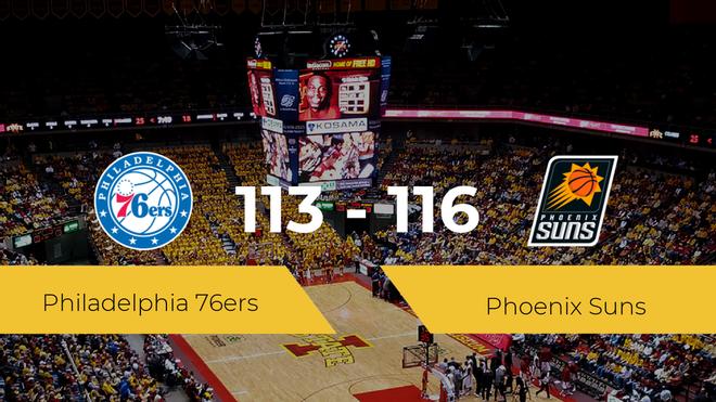 Phoenix Suns se queda con la victoria frente a Philadelphia 76ers por 113-116