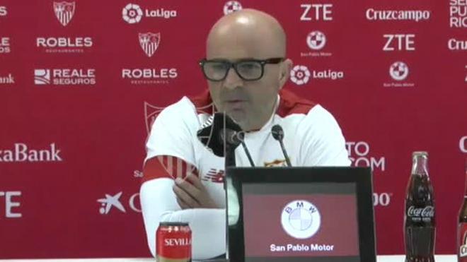 La rueda de prensa de Sampaoli previa al Alavés - Sevilla