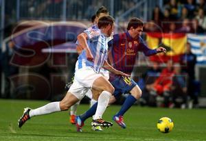 Málaga CF, 1 - FC Barcelona, 4