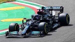 Lewis Hamilton en Imola