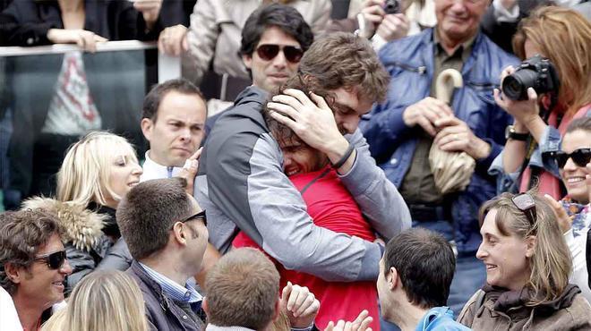 Rafa Nadal & Pau Gasol: El público te eleva la adrenalina