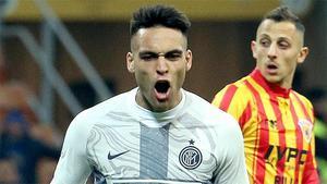 El gol de Lautaro Martínez al Benevento en la Coppa italiana