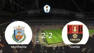 El Murchante y el Cortes se reparten los puntos tras su empate a dos