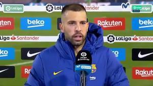 Jordi Alba: Todo el equipo preferimos que Leo esté en el campo