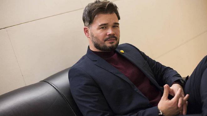Rufián un crítico tweet comentando las elecciones madrileñas