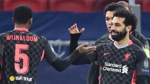 El gol de Salah ante el Leipzig