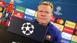 Ronald Koeman, entrenador del FC Barcelona, en rueda de prensa