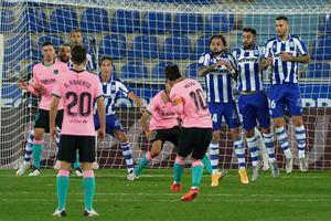 A pesar de ser superior, el Barcelona no pudo conseguir la victoria ante el Alavés en su último enfrentamiento