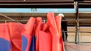 El curioso proceso para retirar la famosa pancarta de Laporta de Madrid