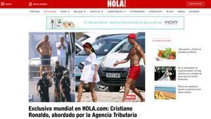 Hacienda aborda a Cristiano en Formentera